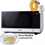 Harga Microwave Inverter 27L Panasonic NNSF564WTTE cicilan Bonus Mangkok Lock and Lock