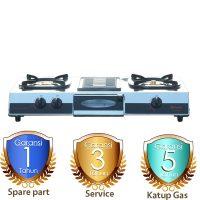 Harga Kompor Gas 2 Tungku Rinnai Griller RI514A garansi