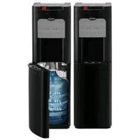 Harga Dispenser Galon Bawah Black Sharp SWD80EHLBK tampak depan dan belakang
