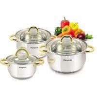 harga Cookware 3 Set Kangaroo Pegangan Emas KG-864