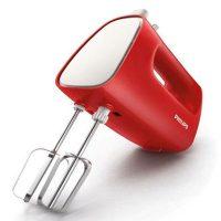 Philips Hand Mixer 170 Watt 5 Speed - HR 1552 merah
